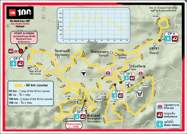 50km Map TNF100km Thailand 2020